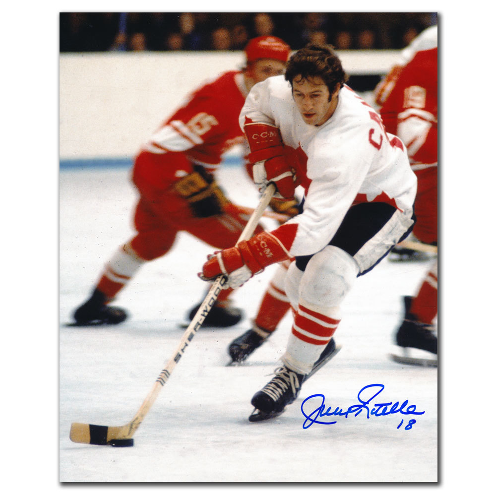 Jean Ratelle Team Canada 1972 Summit Series Autographed 8x10