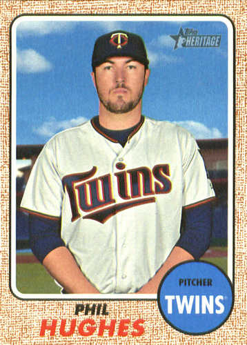 Photo of 2017 Topps Heritage #562 Phil Hughes