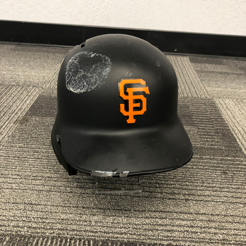 Photo of San Francisco Giants - Team Issued Batting Helmet - #35 Brandon Crawford - Size 7 1/2