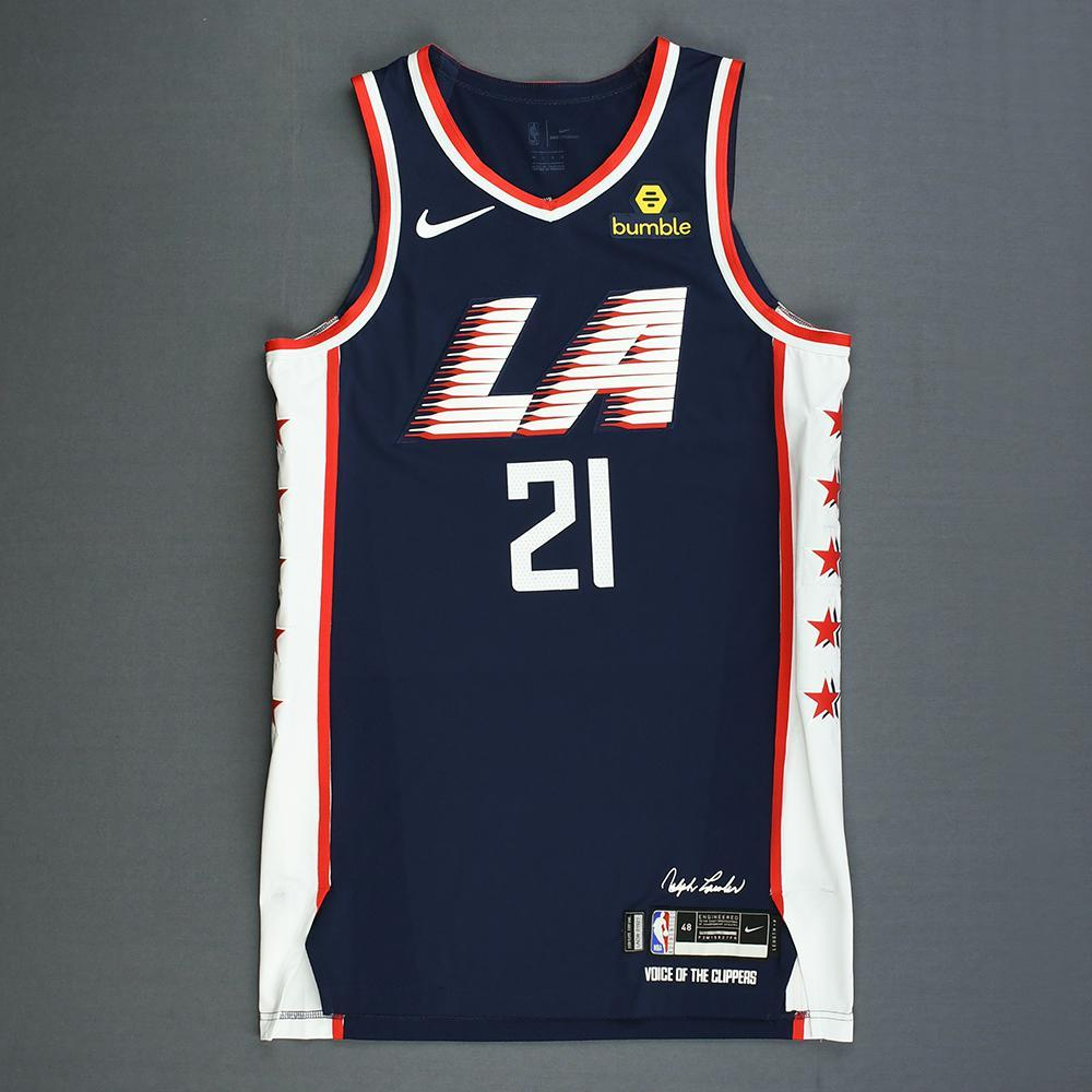 outlet store 14036 b3b8a Patrick Beverley - Los Angeles Clippers - Game-Worn 1st Half ...