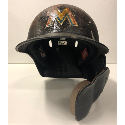 Photo of Game Used Helmet: Miguel Rojas - Size 7 3/8