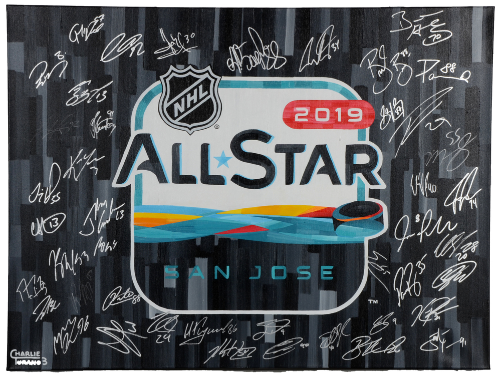 2019 NHL All-Star Game Autographed 30