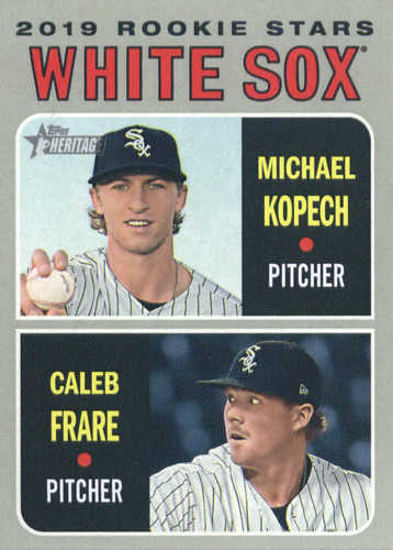 Photo of 2019 Topps Heritage #7 Michael Kopech RC/Caleb Frare RC