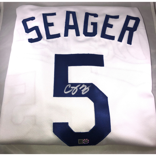 buy popular dccb2 74a77 Dodgers Auctions | Corey Seager Authentic Autographed Los ...