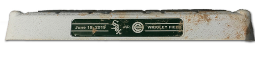 Photo of Game-Used 2nd Base -- Used in Innings 7 through 9 -- White Sox vs. Cubs -- 6/19/19