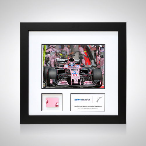 Photo of Sergio Perez 2017 Austrian Grand Prix Photo and Piece of  Bodywork - Sahara F...