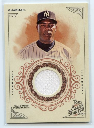 Photo of 2019 Topps Allen and Ginter Relics #FSRAACH Aroldis Chapman A