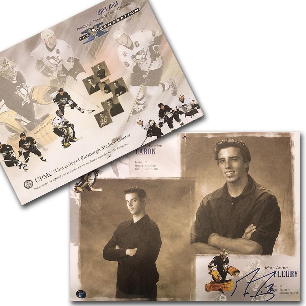 Marc-Andre Fleury Autographed Pittsburgh Penguins 2004 Calendar