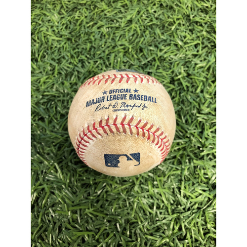 Photo of Game Used Baseball: Robinson Cano single off Jake Odorizzi - August 19, 2017 v SEA
