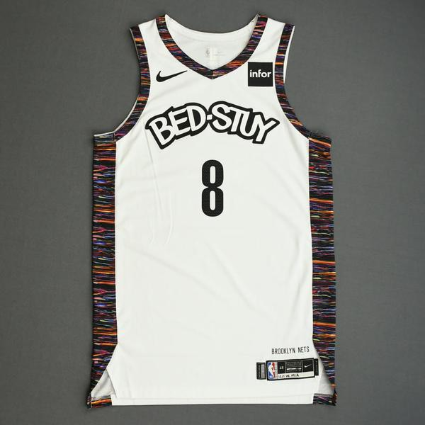 Image of Spencer Dinwiddie - Brooklyn Nets - Game-Worn City Edition Jersey - Scored Game-High 29 Points - 2019-20 NBA Season