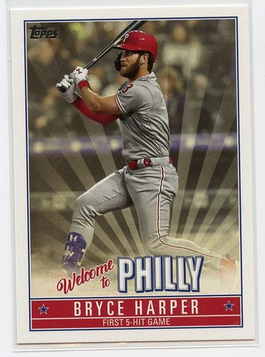 Photo of 2019 Topps Update Bryce Harper Welcome to Philly #BH15 Bryce Harper