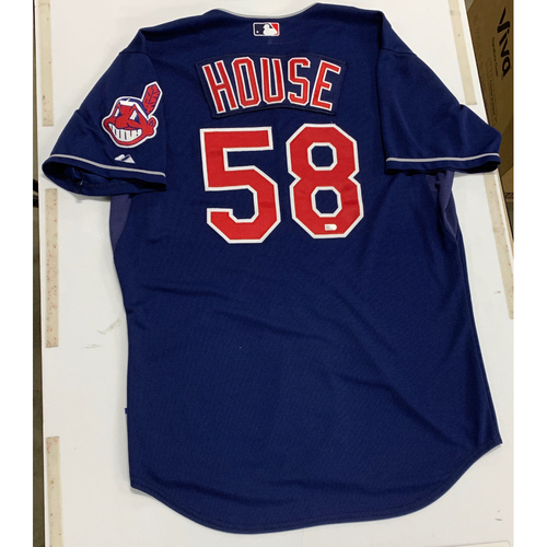 Photo of T.J. House Team Issued 2014 Alternate Navy Jersey