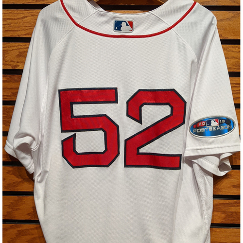 Photo of Coach Carlos Febles #52 Game Used Home White Jersey