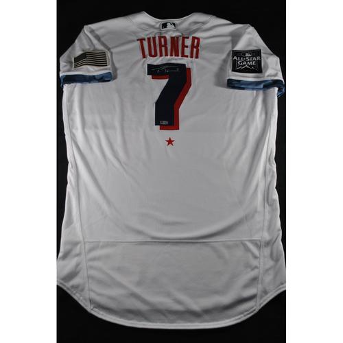 Photo of Trea Turner 2021 Major League Baseball All-Star Game Autographed Jersey