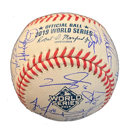 Photo of 2019 World Series Team Signed Ball