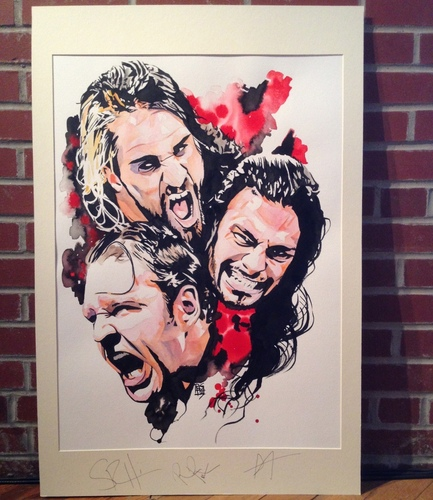 The Shield Signed Painting by Rob Schamberger