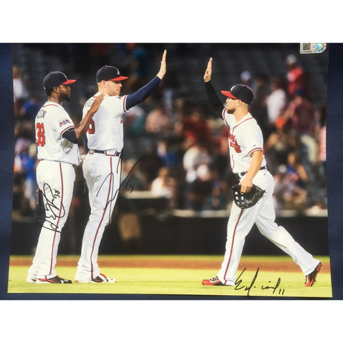 Braves Charity Auction - Arodys Vizcaino, Freddie Freeman, Ender Inciarte Autographed Photo