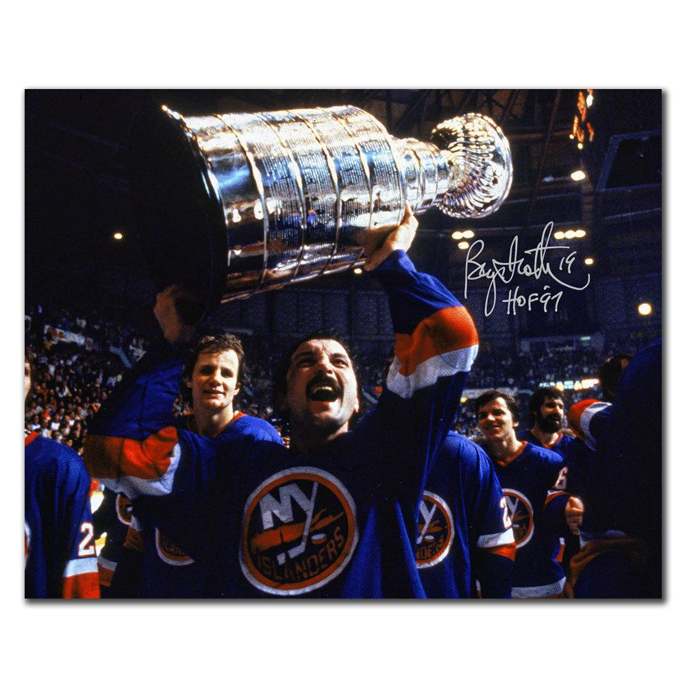 Bryan Trottier New York Islanders STANLEY CUP Autographed 8X10