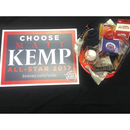 Braves Charity Auction - Braves Wives Favorite Things Basket - Matt Kemp