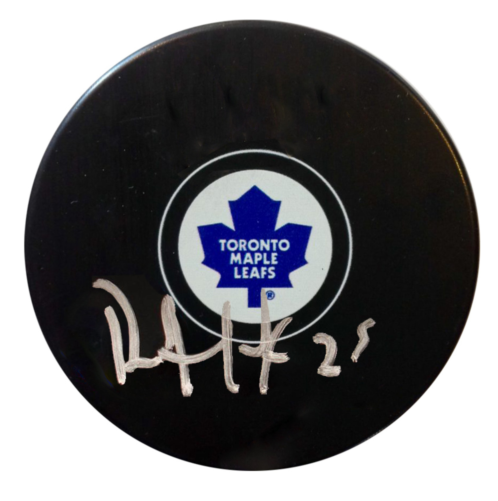 Dave Andreychuk - Signed Puck Maple Leafs