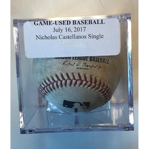 Photo of Game-Used Baseball: Nicholas Castellanos Single