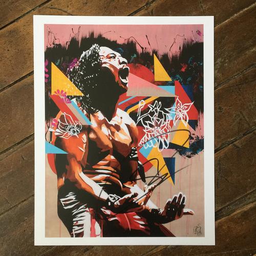 Shinsuke Nakamura SIGNED 11 x 14 Rob Schamberger Print