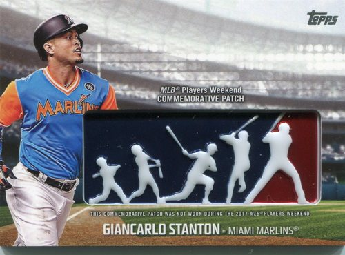 Photo of 2018 Topps Players Weekend Patches #PWPGST Giancarlo Stanton