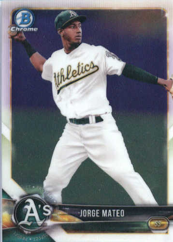 Photo of 2018 Bowman Chrome Prospects #BCP95 Jorge Mateo