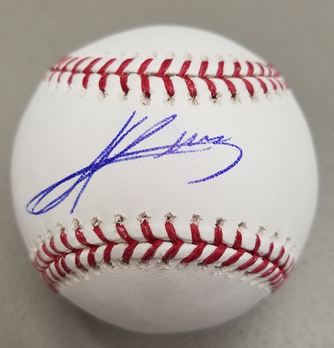 Photo of Andres Gimenez Autographed Baseball