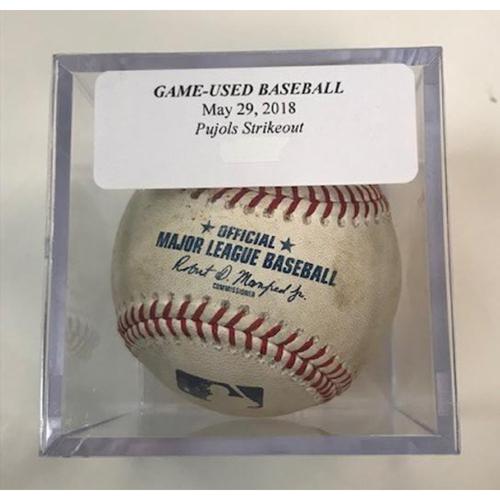 Photo of Game-Used Baseball: Albert Pujols Strikeout