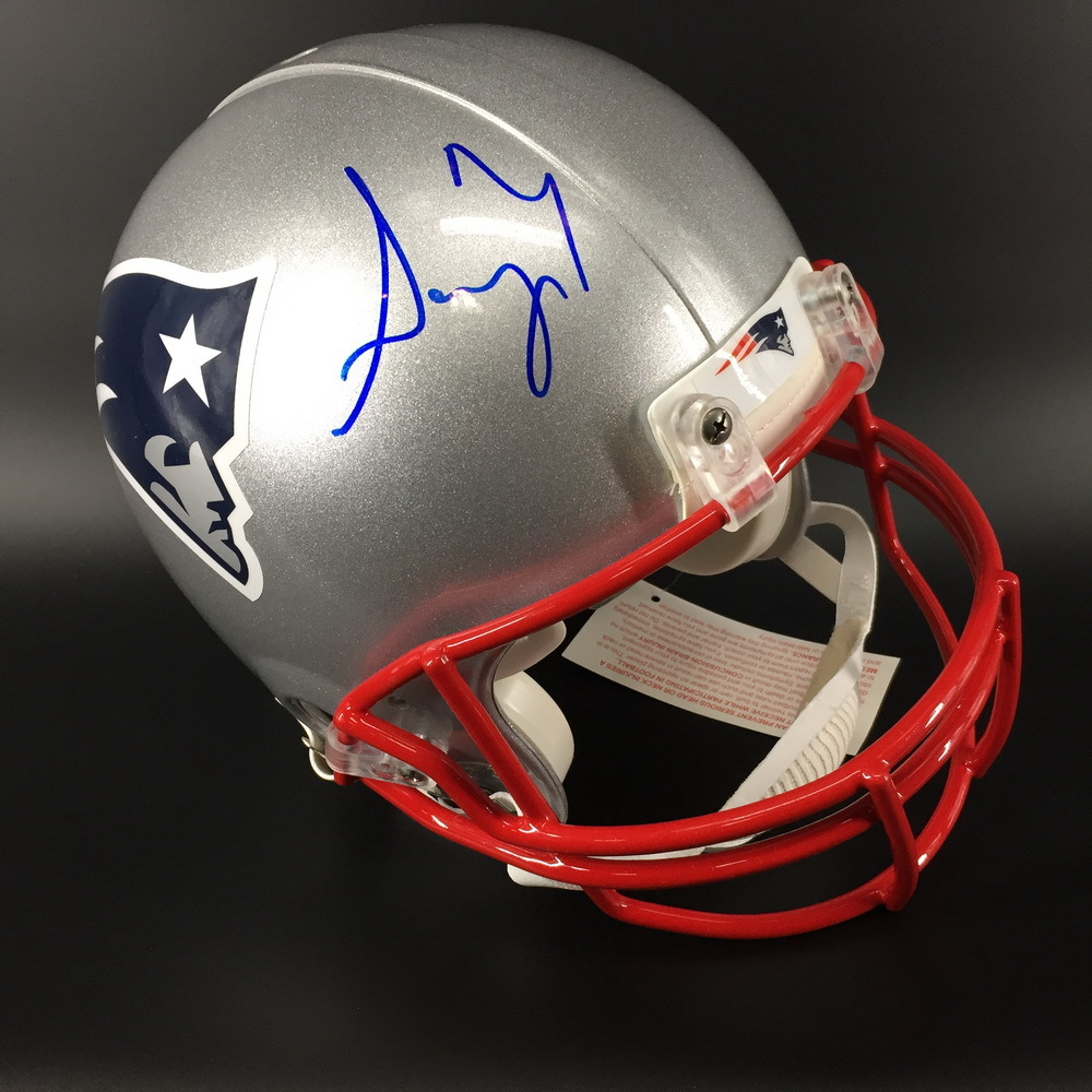 NFL - PATRIOTS RB SONY MICHEL SIGNED PATRIOTS PROLINE HELMET