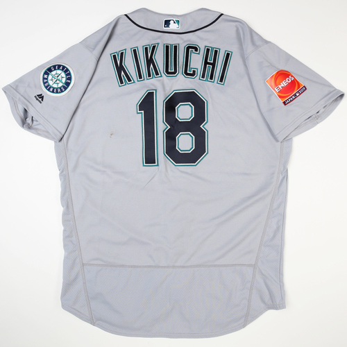 Photo of 2019 Japan Opening Day Series - Game Used Jersey - Yusei Kikuchi, Seattle Mariners at Oakland Athletics -3/21/2019
