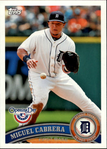 Photo of 2011 Topps Opening Day #100 Miguel Cabrera