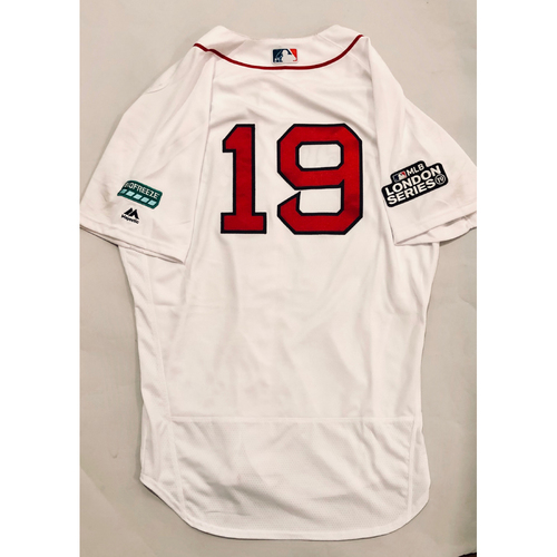 Photo of 2019 London Series - Game-Used Jersey - Jackie Bradley, Jr., New York Yankees vs Boston Red Sox - 6/29/19