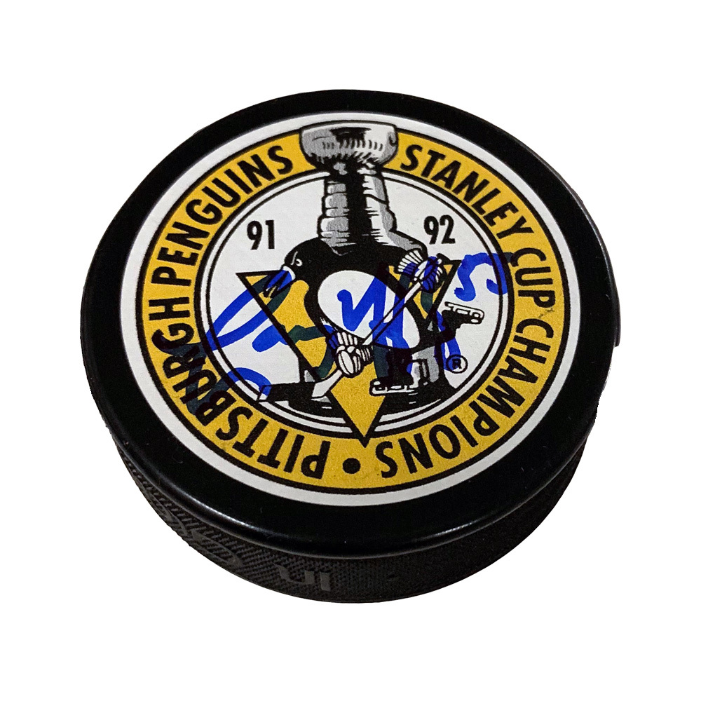 LARRY MURPHY Signed Pittsburgh Penguins 91-92 Stanley Cup Champions Puck