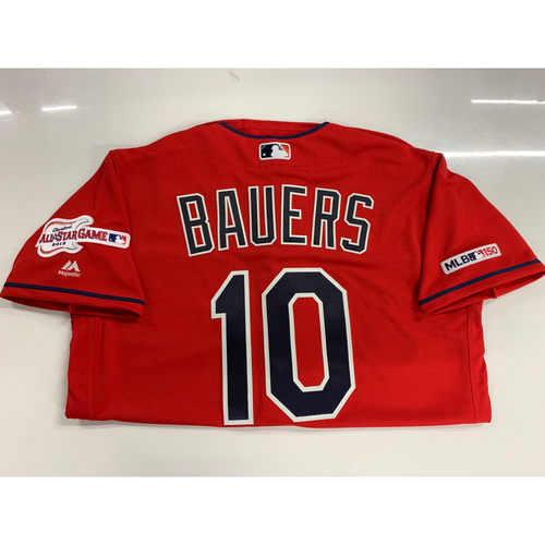 Photo of Jake Bauers 2019 Team Issued Alternate Home Jersey with ASG Patch