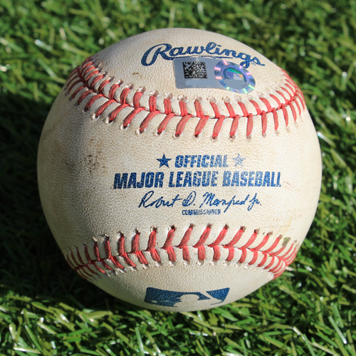 Photo of Game-Used Baseball: Alex Gordon 342nd Career Double and 709th Career RBI (6/23/19 - MIN @ KC)