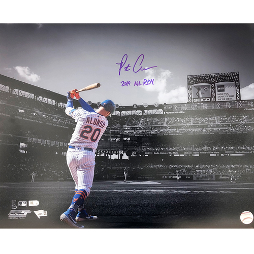 "Photo of Pete Alonso - Autographed 16X20 Photo - Inscribed ""2019 NL ROY"""