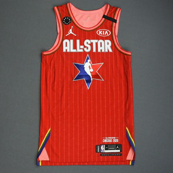 Image of TraeYoung - 2020 NBA All-Star - Game-Worn Jersey Charity Auction - Team Giannis - 1st and 2nd Quarter - Double-Double