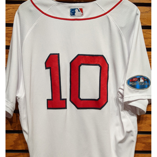 2018 Postseason Coach Ron Roenicke #10 Team Issued Home White Jersey