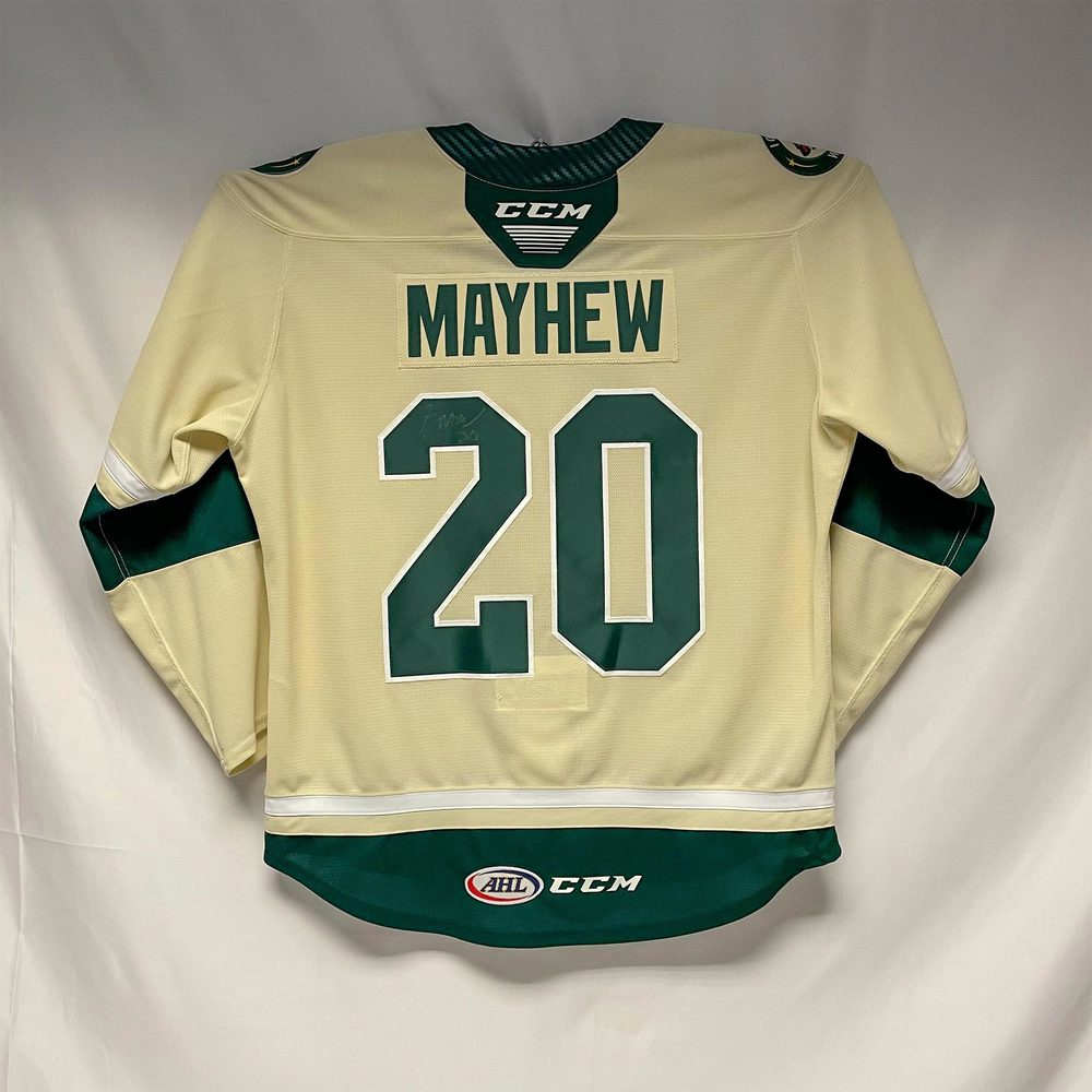 2019-20 Iowa Wild Third Jersey Issued to and Signed by #20 Gerry Mayhew