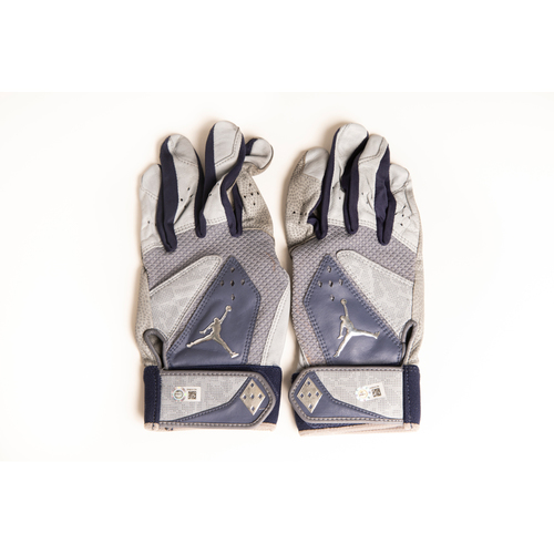 Photo of Derek Jeter Autographed Game-Used Batting Gloves from Last MLB Game (9/28/14 at BOS) - Inscribed: 'Last MLB Game'