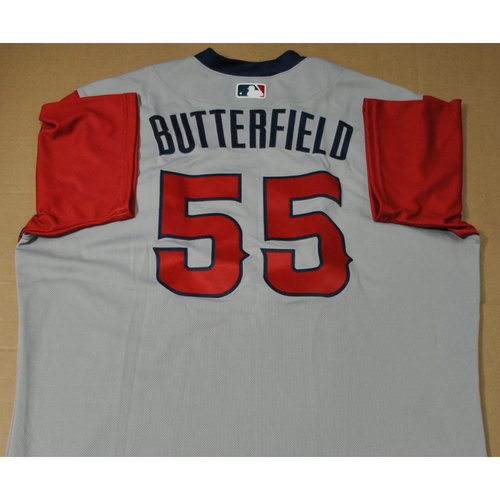 Photo of Game-used Jersey - 2021 Little League Classic - Los Angeles Angels vs. Cleveland Indians - 8/22/2021 - West, Brian Butterfield #55