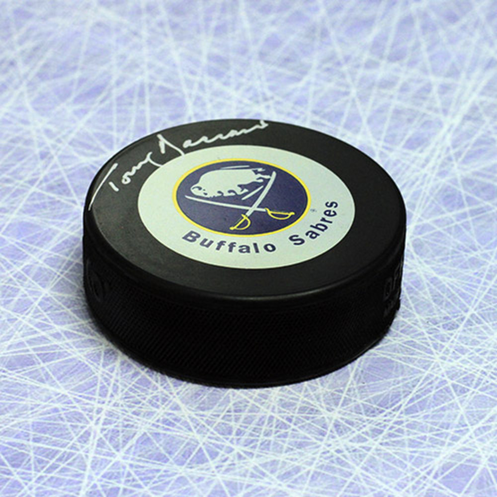 Tom Barrasso Buffalo Sabres Autographed Hockey Puck