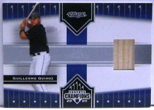 Photo of 2005 Donruss Champions Impressions Material #59 Guillermo Quiroz Bat T5