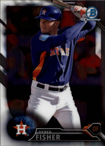 Photo of 2016 Bowman Chrome Draft #BDC138 Derek Fisher -- Astros post-season