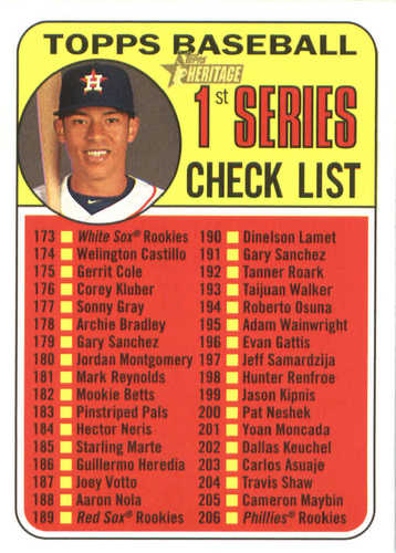 Photo of 2018 Topps Heritage #214 Carlos Correa CL