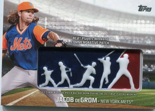 Photo of 2018 Topps Players Weekend Patches #PWPJG Jacob deGrom