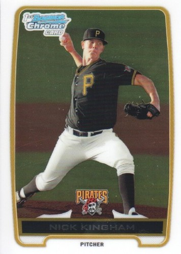 Photo of 2012 Bowman Chrome Prospects #BCP8 Nick Kingham -- Pre-rookie card