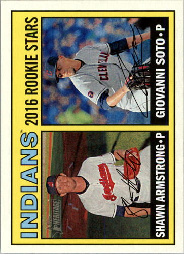 Photo of 2016 Topps Heritage #165 Giovanni Soto RC/Shawn Armstrong RC